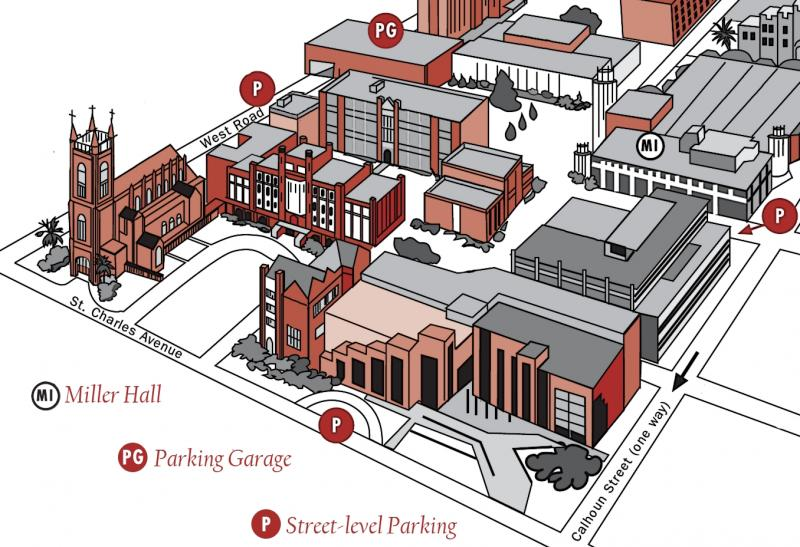 Loyola University New Orleans Map.Loyola New Orleans Map Whitepear Store